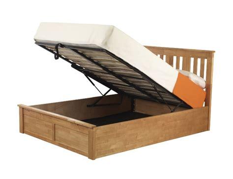 Lift Up Storage Bed Oak by Sweet Dreams Coliseum 5ft Kingsize Oak Finish Ottoman Lift
