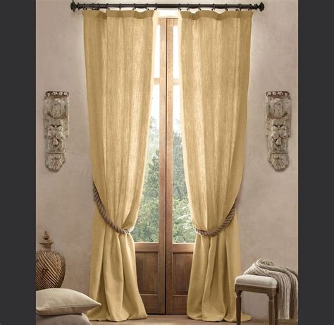 linen luxury textured faux linen set of two drapery panels linens straws and colour on pinterest