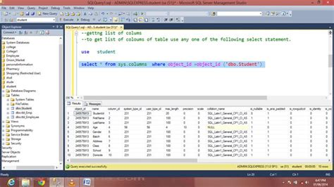 sql server list tables getting list of tables in sql server