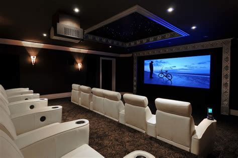 Home Theater Design Houzz Multi Screen System