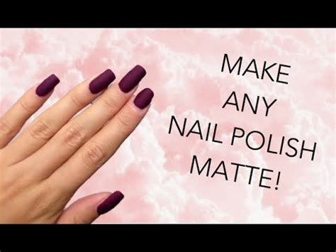 how to make any nail matte diy matte nail make any nail matte