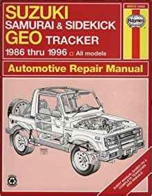 suzuki samurai & sidekick geo tracker automotive repair