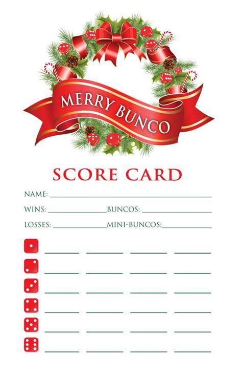 christmas bunco themes bunco score card pinteres