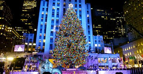 when do they light the nyc tree rockefeller center trees happy holidays