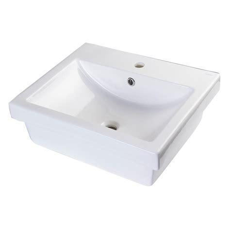 home depot white vessel sink eago vessel sink in white ba134 the home depot