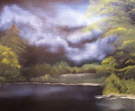 bob ross painting moon shopping bob ross moon lake painting on paintings biz