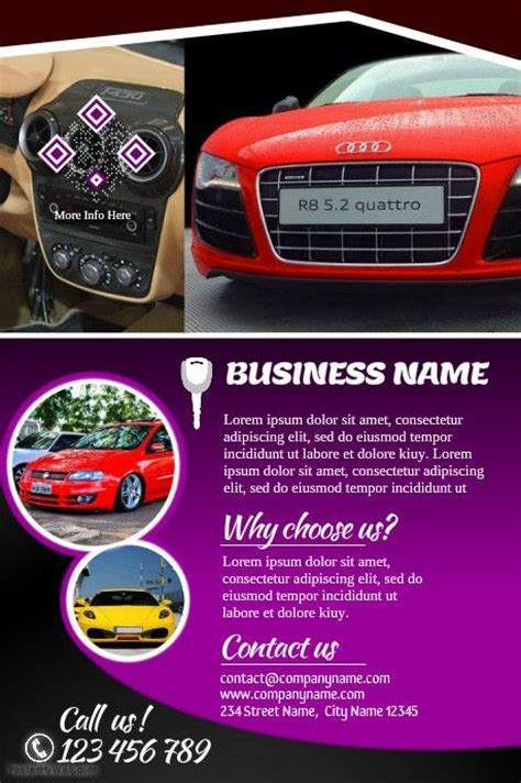 car brochure template 41 best images about car dealer flyer diy on