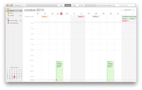 Mac Os X Calendrier Astuce Une Semaine De Quinze Jours Dans Le Calendrier D