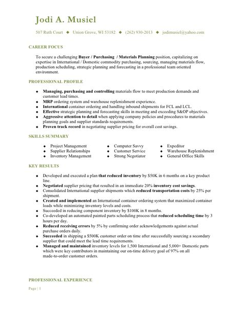 resume templates for a buyer musiel jodi a resume buyer