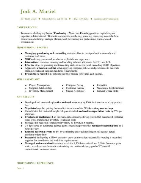 Musiel, Jodi A. Resume Buyer