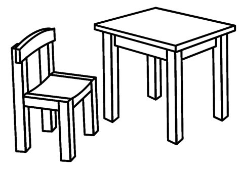 Coloring Desk For by Furniture Coloring Page For To Print And For