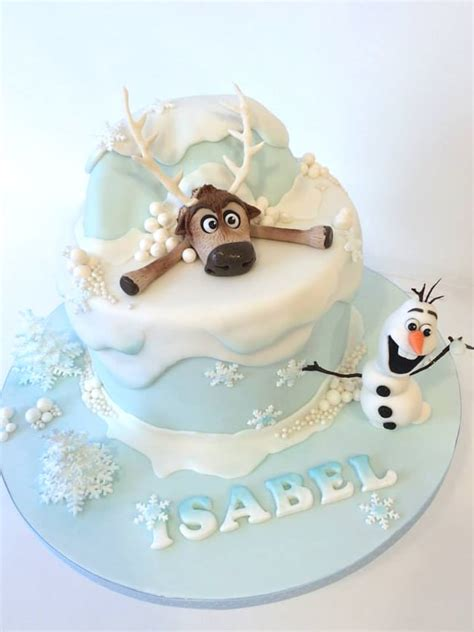 amazing frozen inspired cakes pretty  party party ideas