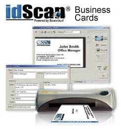 how to scan business cards into outlook business card scanner idscan