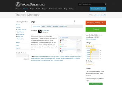 themes zip file download appearance themes screen 171 wordpress codex