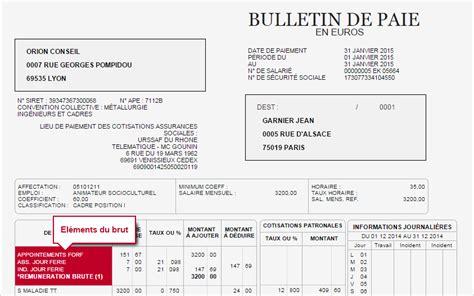 bulletin de paie fonctionnaire territorial bulletin de paie cadre syntec