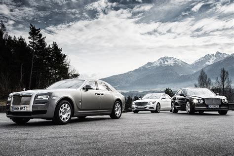 bentley vs rolls royce mercedes s600 vs rolls royce ghost vs bentley flying
