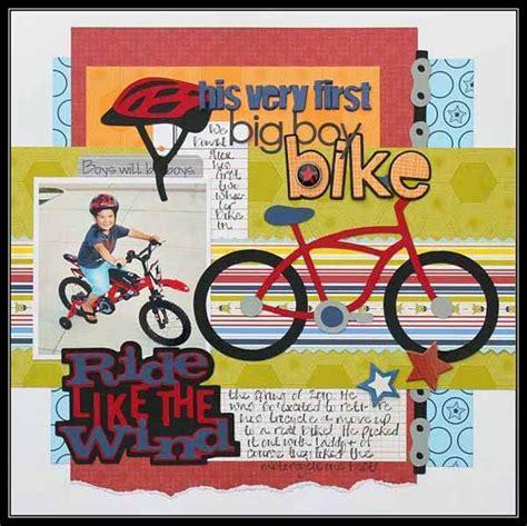 scrapbook layout cycling ride like the wind cricut scrapbook layouts
