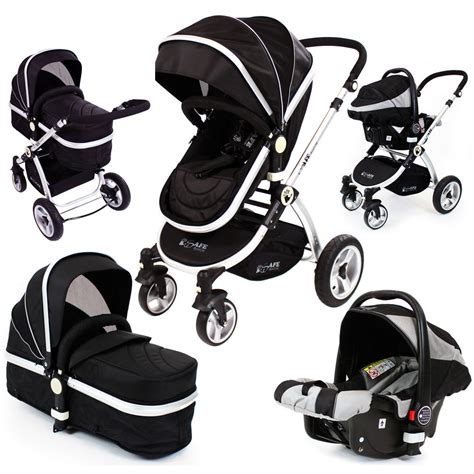 baby pram pushchair swivel wheels isafe luxury car seat