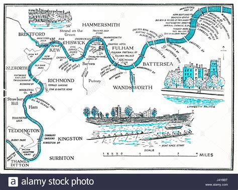 river thames old maps rowing map of the thames 1955 illustrated plan of the