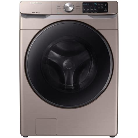 samsung 4 5 cu ft high efficiency stackable front load washer chagne energy at lowes