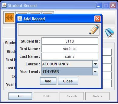 java swing projects with source code free download free download student record management system development