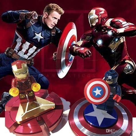 Spinner Fidget Toys Marvel Captain America 2 fidget spinner iron finger spinner captain