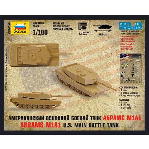 Zvezda 1100 M1 Abrams zvezda 1 100 scale abrams m1a1 u s battle tank snap fit plastic model kit sabe s