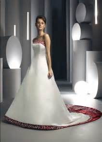wedding dresses in color strapless wedding gown with trim