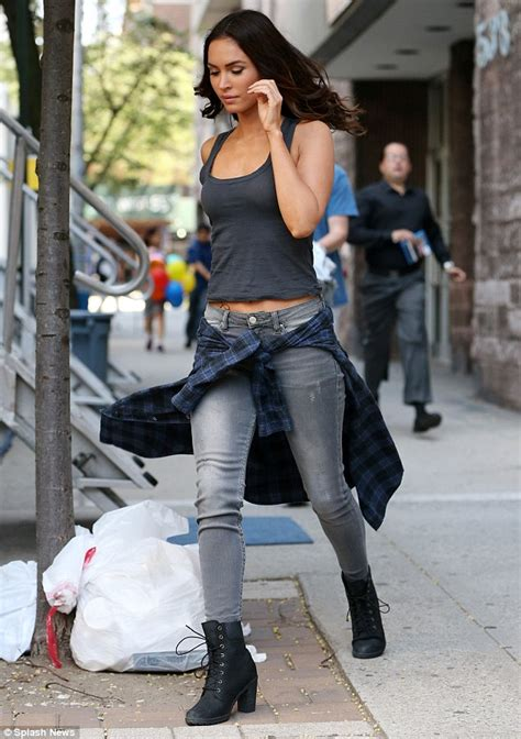 Hummer Fox Low Boots Casual megan fox in tank top and as she