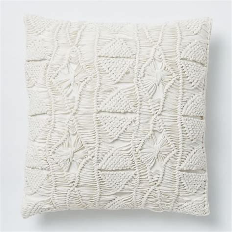 macrame pillow macrame pillow cover white west elm