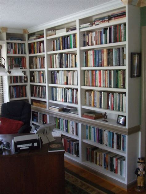 custom built in study bookshelves by carolina woodworking