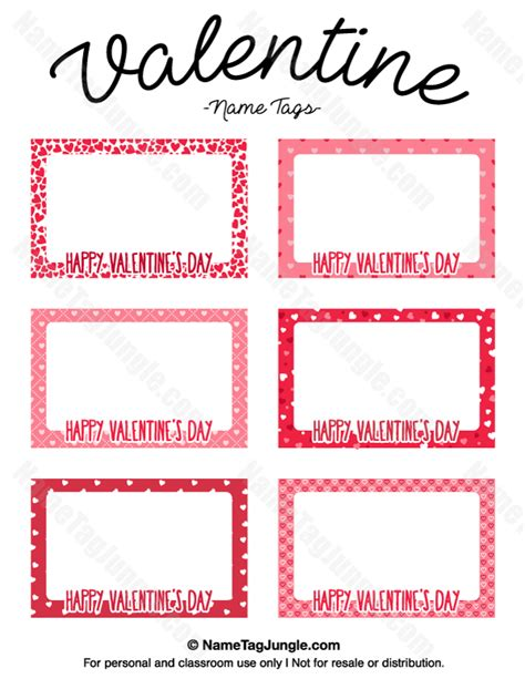 printable valentines tags free printable name tags the template can also