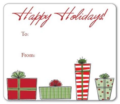 printable christmas present gift tags template