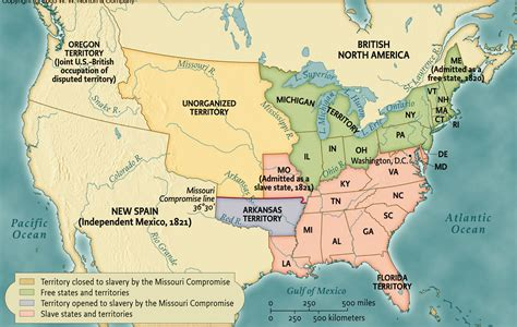map of us states in 1820 unit 6 maps images charts