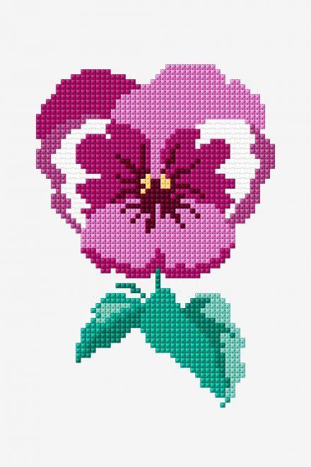 01a7ccrcarnations Pattern Stitching Design Pink pink pansy pattern free cross stitch patterns dmc