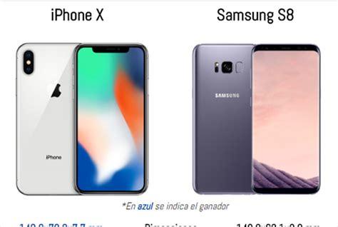 iphone x vs samsung galaxy s8 191 cu 225 l es mejor
