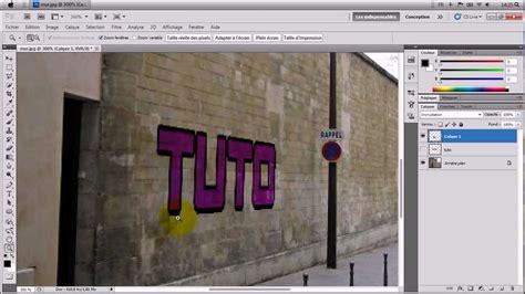 tutorial photoshop cs5 francais tutoriel photoshop cs5 fr mettre un texte sur un mur en