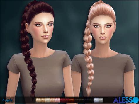 sims 4 hair cc braids alesso sims 4 nexus