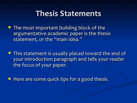 thesis statement for change thesis statements