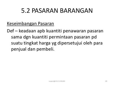 Dr Di Pasaran ekonomi asas f4 unit 5 pasaran