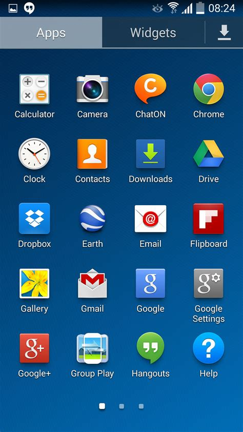 galaxy  kitkat firmware leaks  white status icons   ui tweaks