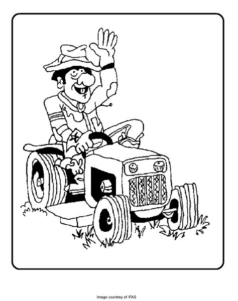 tractor coloring page pdf farmer on a tractor free coloring pages for kids