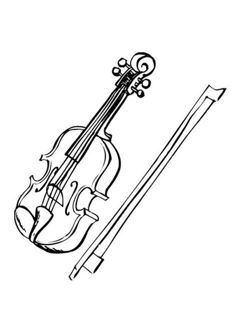 free coloring pages of a violin to draw