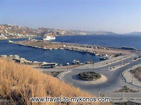mykonos port new port at tourlos mykonos greece
