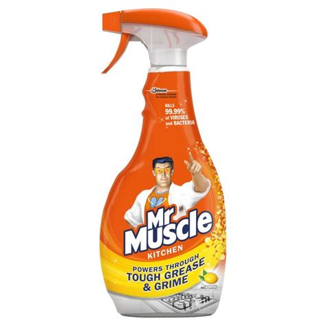 mr muscle toilet and bathroom cleaner mr muscle kitchen cleaner 5 in 1 500ml from ocado
