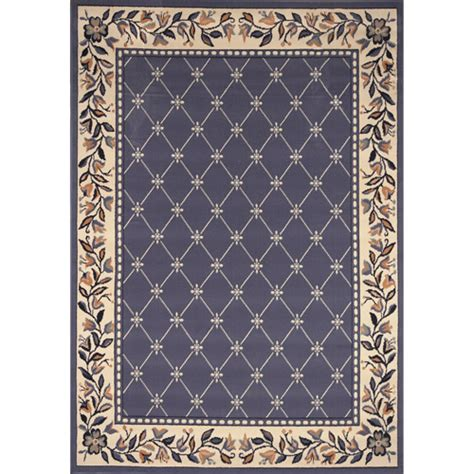 What Is Olefin Rug by Home Dynamix Premium Traditional Olefin Rug Country Blue