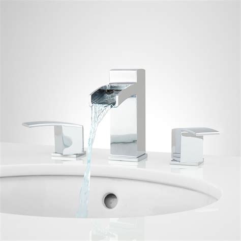 bathtub waterfall faucets wyatt widespread waterfall bathroom faucet bathroom
