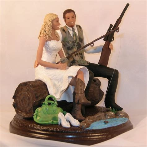 7 Awesome Wedding Cake Toppers by Country Wedding Cake Topper With And Fishing Theme