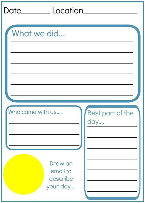 printable holiday diary how to make an amazing kids travel journal free