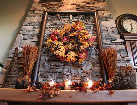 using fall leaves in home d 233 cor - Rustic Fall Decor
